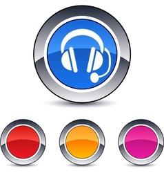 call center round button vector image vector image