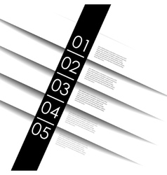 clean numbered banners for sample vector image