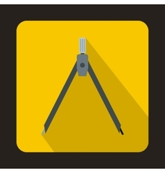 Compass tool icon in flat style vector image