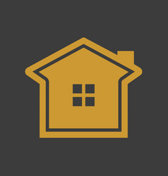 simple elegant golden house vector image vector image