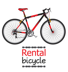 city bike hire rental bicycle for tourists in flat vector image vector image