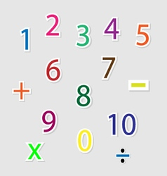 Cute colorful number vector image vector image
