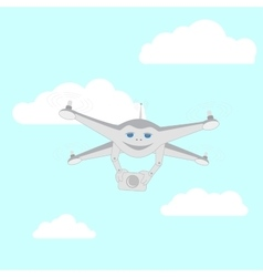 Drone with a video camera vector
