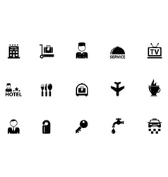 hotel concept icons vector image