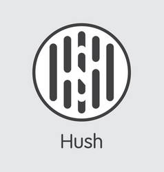 Hush cryptocurrency - colored logo vector