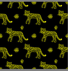 leopard graphic animal vector image vector image