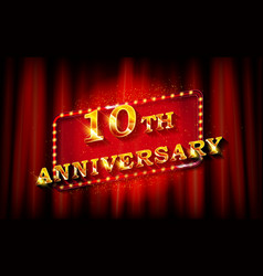 10 years with anniversary vector