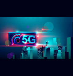 5g high speed network communication internet on vector image