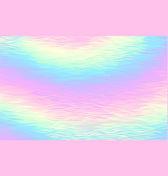 Abstract holographic background with waves pattern vector