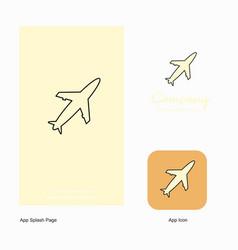 aeroplane company logo app icon and splash page vector image