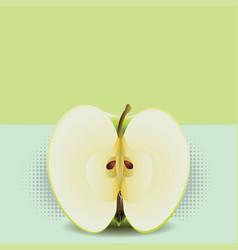 Apple half pop art vector