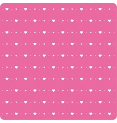 Background little hearts vector image