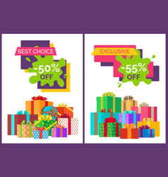 best choice half price off vector image