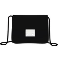 black hand bag vector image