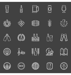 Brewery and beer icons vector