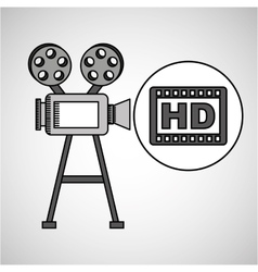 Camera film vintage with movie hd vector