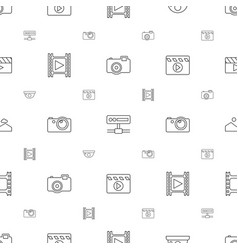 Camera icons pattern seamless white background vector
