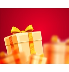 Christmas holiday gift boxes vector