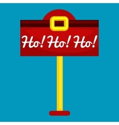 Christmas letter box to Santa isolated Santa vector