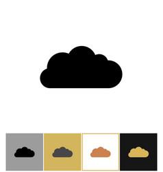 cloud icon bubbles clouds shapes vector image