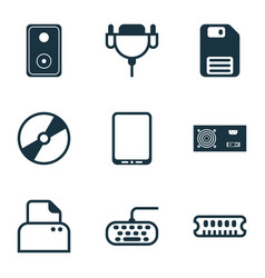 Computer icons set collection of power generator vector