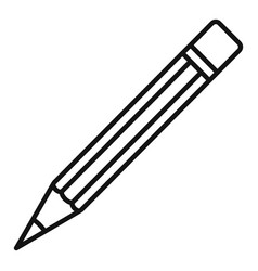 construction pencil icon outline style vector image
