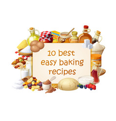 Cooking blog with ingredients for vector