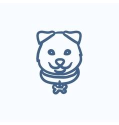 Dog head sketch icon vector image