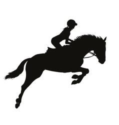 Equestrian sport silhouettes vector