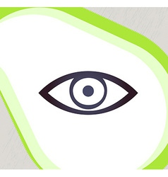 Eye Retro-style emblem icon pictogram EPS 10 vector