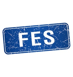 Fes blue stamp isolated on white background vector