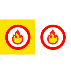 Fire flame burn sign symbol burning fire flame vector
