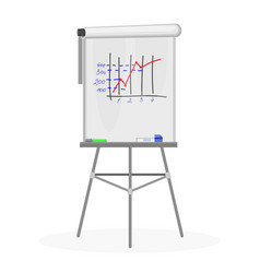 flipchart office equipment flat vector image