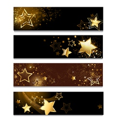 four banners with stars vector image