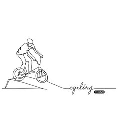 freestyle bmx cycling sketch doodle vector image