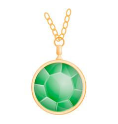 Green peridot mockup realistic style vector