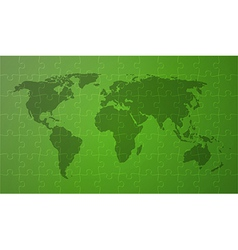 green worldmap vector image
