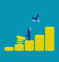 Growth for business concept business vector