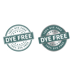 Grunge stamp and silver label dye free vector
