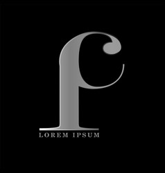 i c letter logo template graphic design vector image