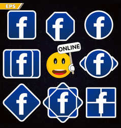icon of the popular social network logo logo vector image