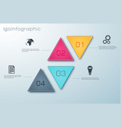 infographic business design concept vector image