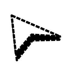 isolated web arrow vector image