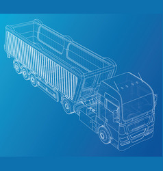 isometric representing truck or tractor vector image
