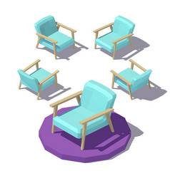 Isometric wide armchair vector