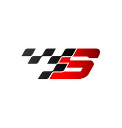 Letter s with racing flag logo vector