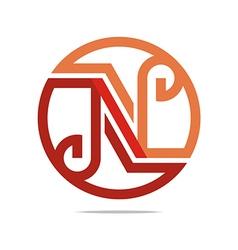 Lettering n alphabet icon design vector