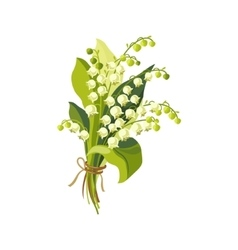 Lily of the valley hand drawn realistic vector