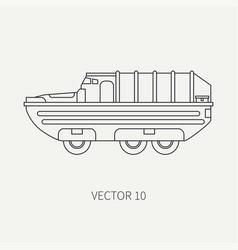 Line flat plain icon infantry assault vector