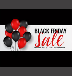 Modern black friday banner with red and black vector